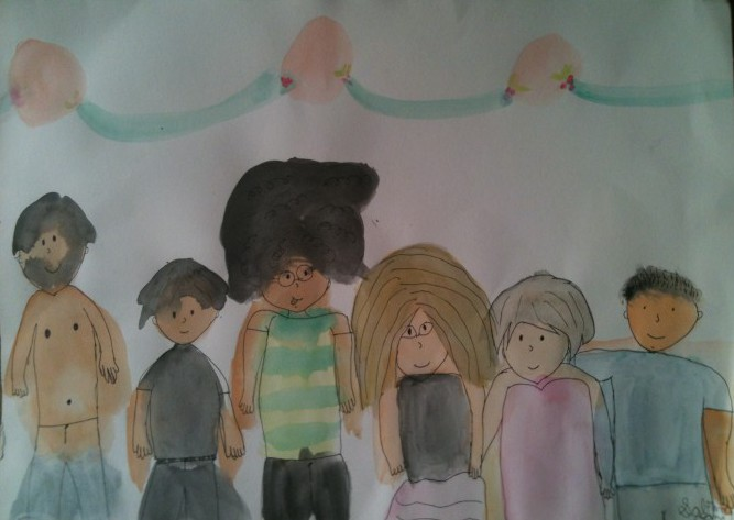 Arte de Sabrina Zani: a família completa.